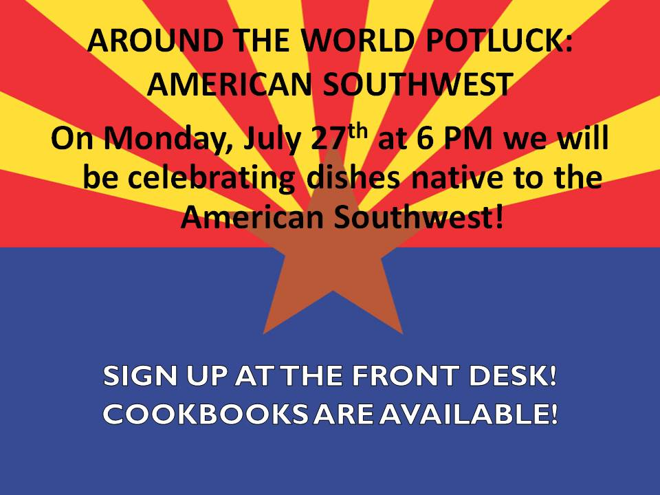 around the world potluck flyer altamont free library
