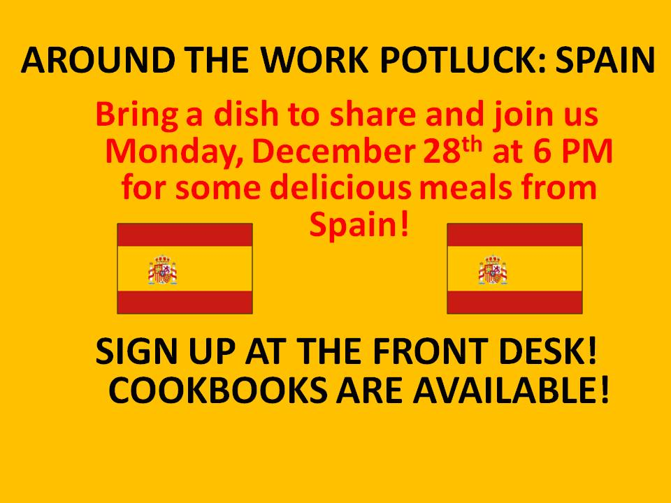 spain potluck flyer altamont free library